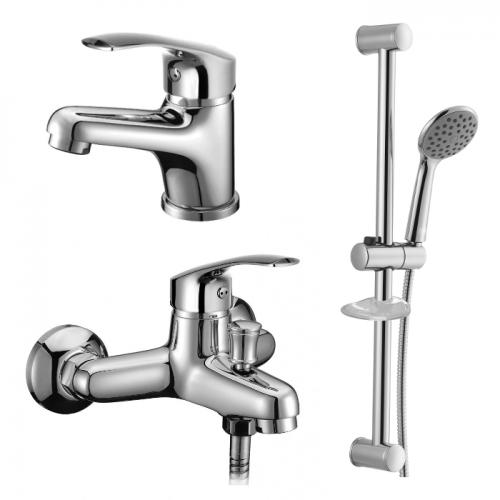 MALSE набор смесителей для ванны, IMPRESE 05010+10010+R670SD