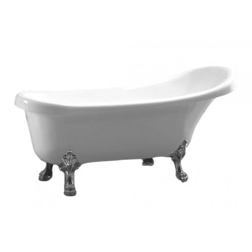 Акрилова ванна Atlantis C-3000 срібло (без переливу) 170х74х78