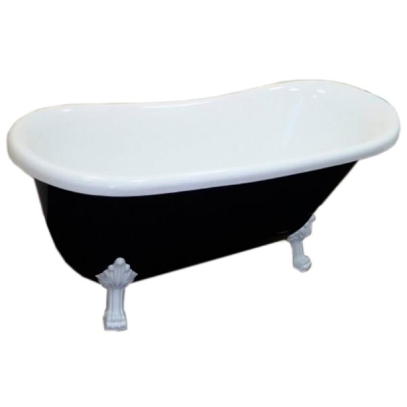 Ванна акрилова ATLANTIS C-3015 Black ніжки білі (без переливу) 170х74х78