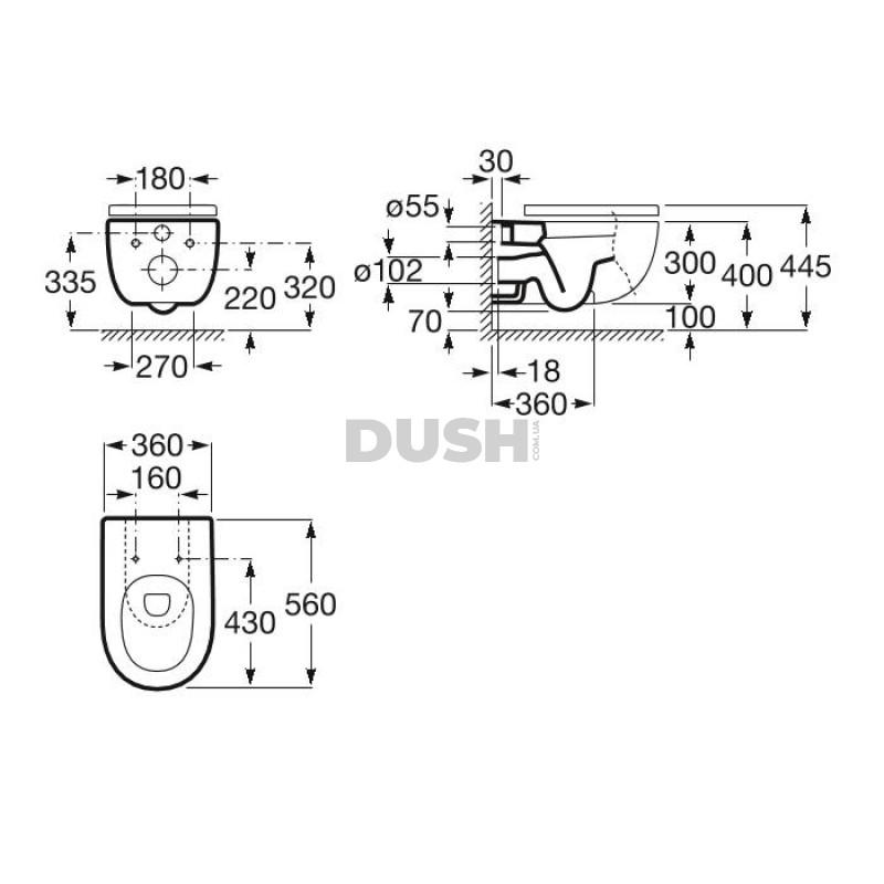 Набор: MERIDIAN Rimless унитаз подвесной, с сиденьем Slim, с сист. плавного опускания+DUPLO ONE инсталляция для унитаза +DUPLO клавиша смыва PL2, хром