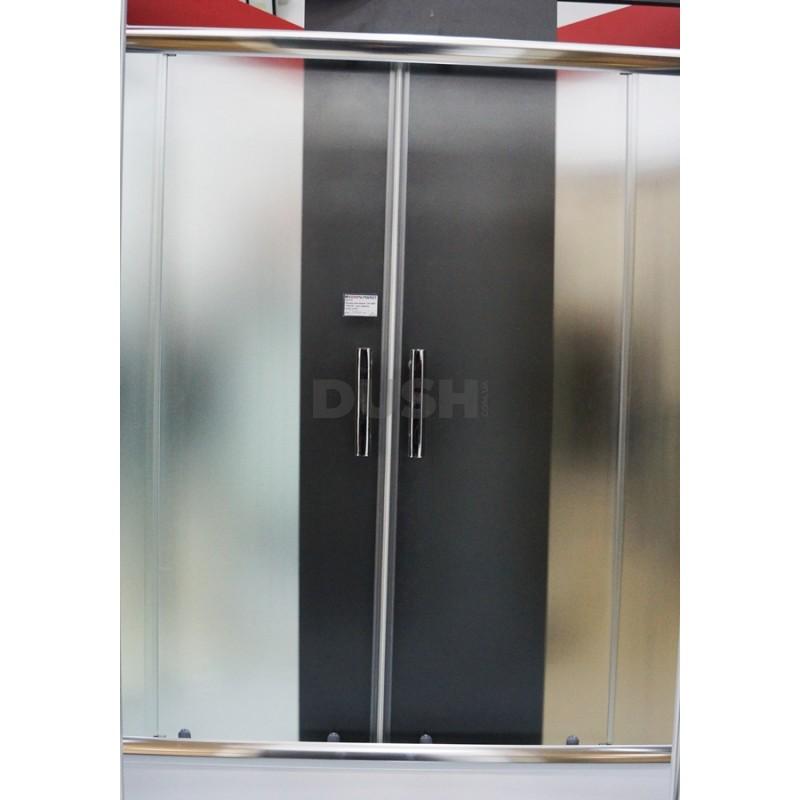 Шторка для ванны Santeh 150-140F (150х140) стекло фабрик