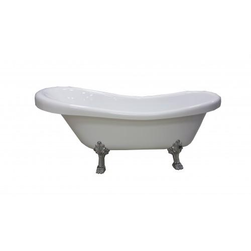 Акрилова ванна Atlantis C-3015 срібло (без переливу) 170х74х76