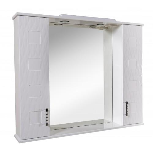 """Зеркало """"АССОЛЬ""""100 см с подсветкой и двумя пеналами"""