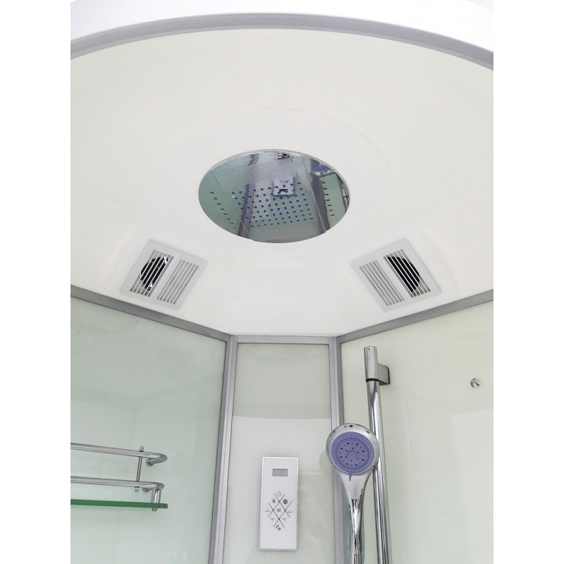 Душевой бокс VERONIS BN-5-90 белый (передние стекла прозрачные) 90х90х220