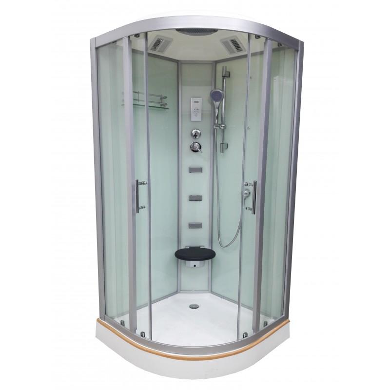 Душевой бокс VERONIS BN-5-100 белый (передние стекла прозрачные) 100х100х220