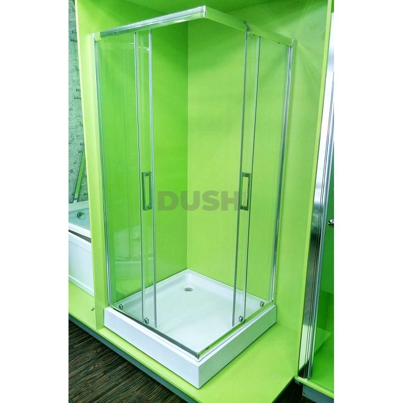 Душевая кабина Veronis KNS-80 80х80х195 прозрачное стекло