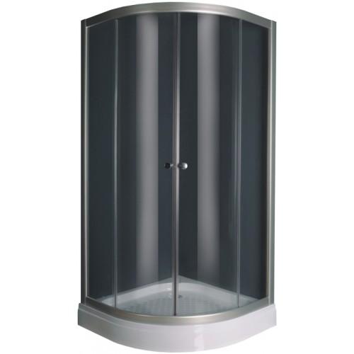 Elephant Душевая кабина 100*100 см с мелким поддоном, стекло (5мм) прозрачное, профиль хром (в комплекте)