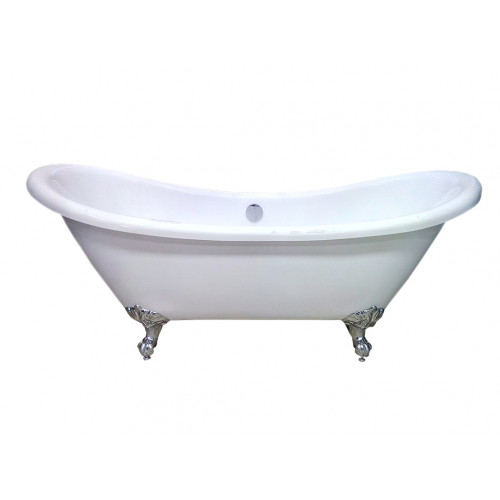 Акриловая ванна Atlantis C-3140 White (c переливом) 176х75х75