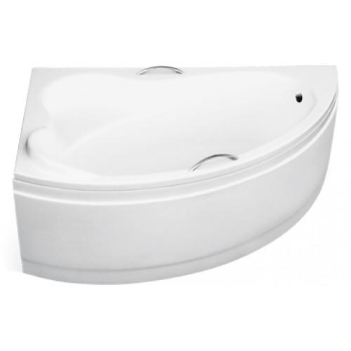 Ванна акриловая besco ADA 140х90 левая без панели и ножек с отверстиями под ручки