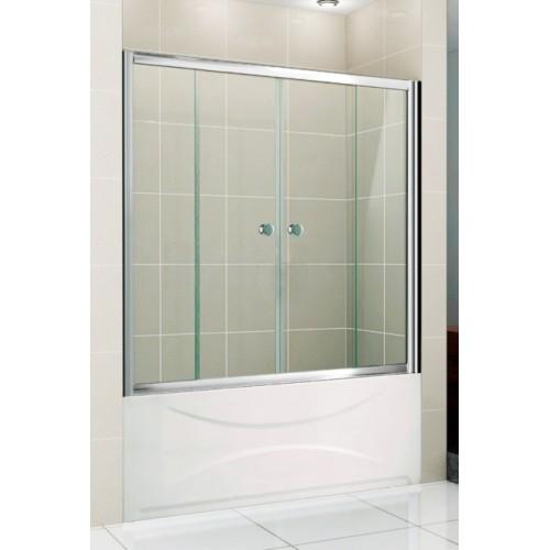 Стеклянная шторка для ванной GRONIX Slide 150х150