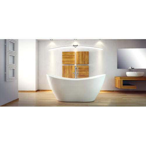 Ванна VIYA ретро 160х70 з сифоном клік-клак