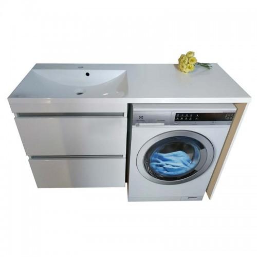Тумба під пральну машинку Jamaica з умивальником Amelia 1245 (Ліва)