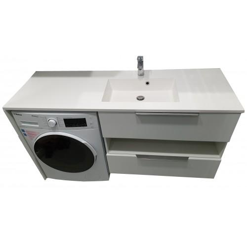 Тумба під пральну машинку з умивальником Fancy Marble Vivara 1500 (Права)