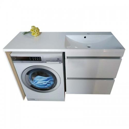 Тумба під пральну машинку Jamaica з умивальником Amelia 1245 (Права)