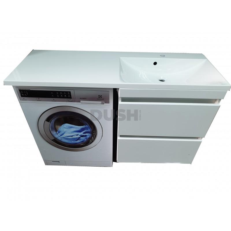 Тумба под стиральную машинку Jamaica с умывальником Amelia 1245 (Правая)