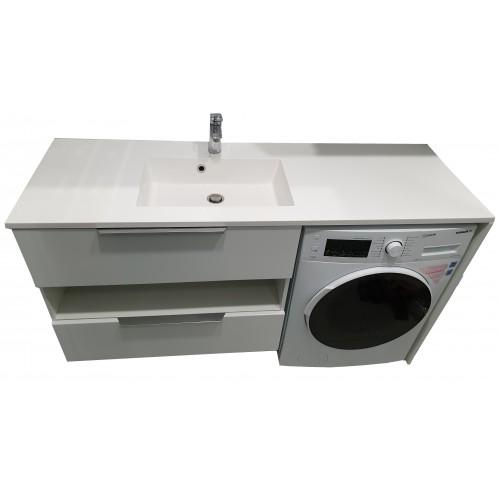 Тумба під пральну машинку з умивальником Fancy Marble Vivara 1500 (Ліва)