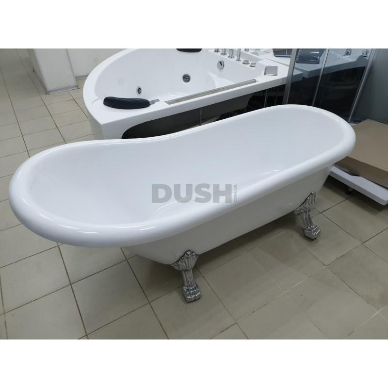 Акриловая ванна с дефектом Atlantis C-3000 серебро (без перелива) 170х74х78