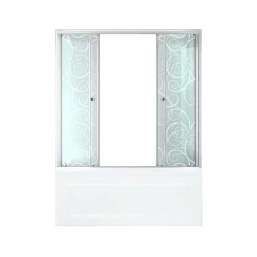 Душевая штора стекло Узоры 170