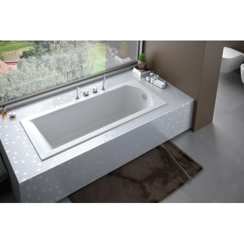 Besco Ванна SHEA 170х70 акриловая, без панели, без ножек