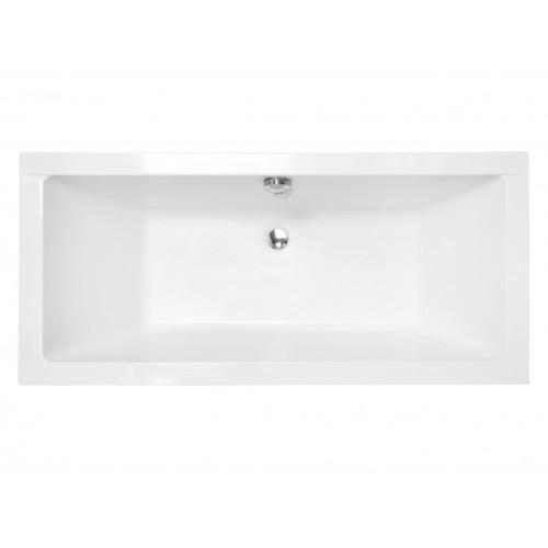 Ванна акриловая BESCO QUADRO SLIM 170х75 без ножек, без отверстий под ручки, без ручек