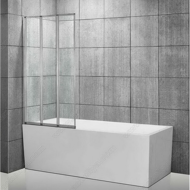Штора для ванны Atlantis PF-72-9 с прозрачным стеклом 90х140