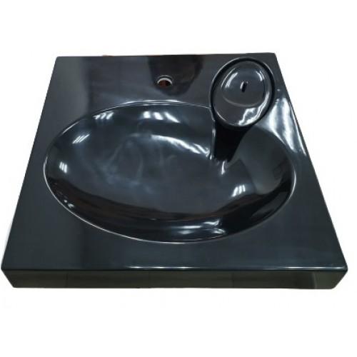Чорний акриловий умивальник на пральну машину Redokss San APR 013-17 60х60х8