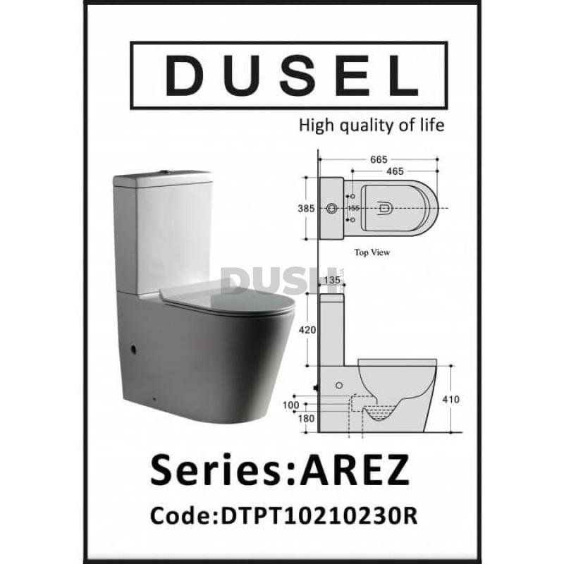 Унитаз Dusel Arez DTPT10210230R