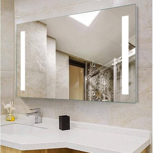 Зеркало Dusel DE-M1041 75х100 сенсорный включатель + подогрев + часы + температура + Bluetooth