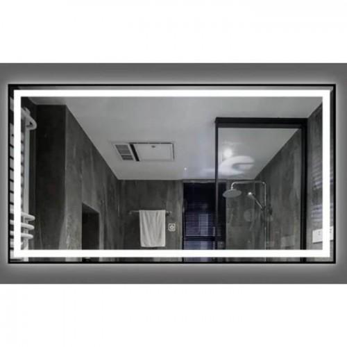 Зеркало Dusel DE-M0061S1 65х80 сенсорный включатель + подогрев + часы + температура