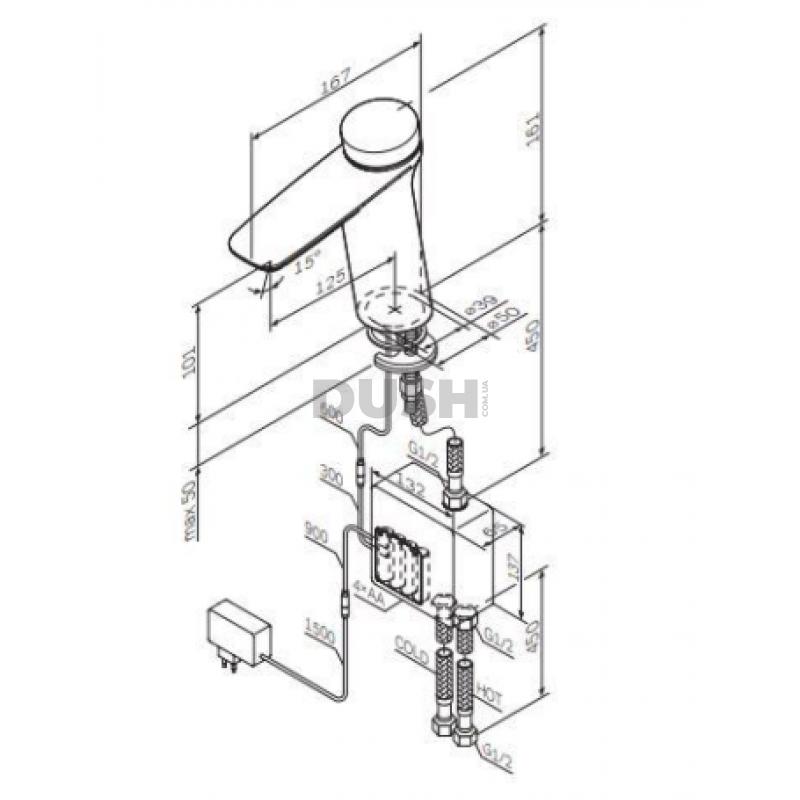 Смеситель для умывальника AM. PM Inspire V 2.0 TouchReel F50A02400 термостатический