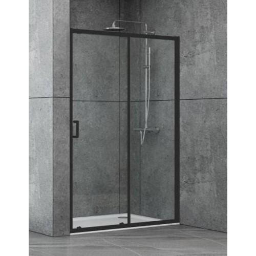 Душевая дверь Dusel EF185B Black Matt 1100х1900