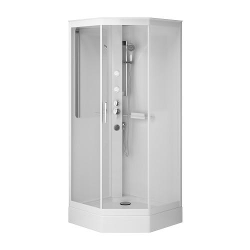 Гидромассажный бокс AM.PM Gem 90х90 прозрачное стекло W90C-018-090WTA