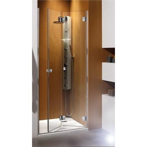 Складна двері в нішу Radaway Carena DWB 90R (893-805x1950) права, коричнева / хром (34502-01-08NR)