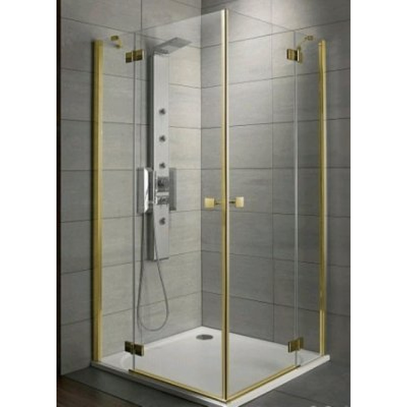Radaway Almatea KDD 90Lx90R (90x90х195) графит/золото (32152-09-05N)