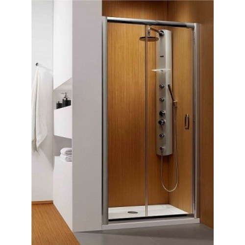 Дверь в нишу Radaway Premium Plus DWJ 120 (1172-1215x1900) коричневая/хром (33313-01-08N)