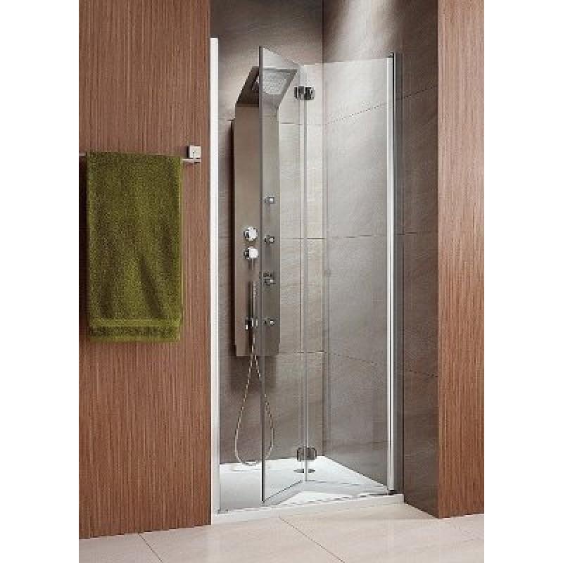 Складная дверь в нишу Radaway Eos DWB 90R (890-910x1970) правая, прозрачная/хром (37803-01-01NR)