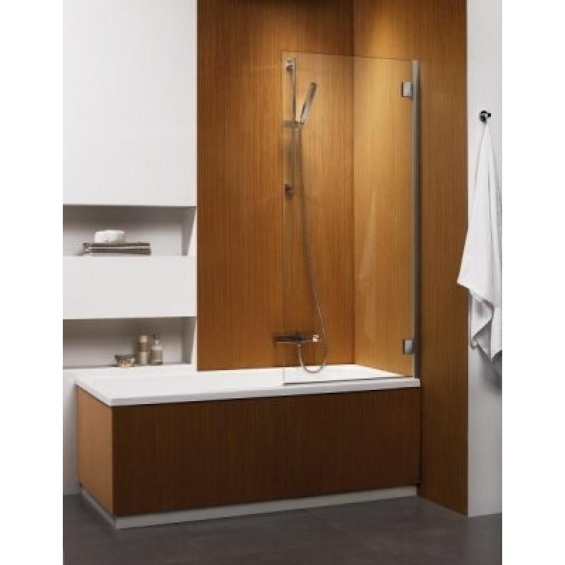 Складная шторка на ванну Radaway Carena PNJ R (70x150) правая, коричневая/хром (202101-108R)