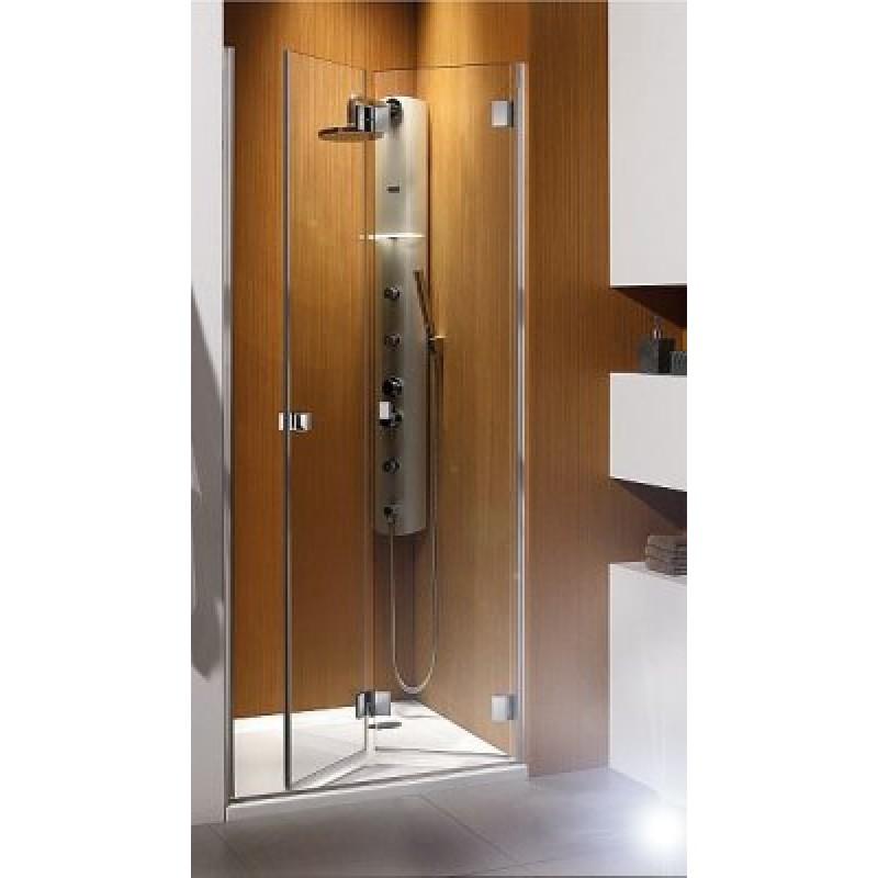 Складная дверь в нишу Radaway Carena DWB 80R (793-805x1950) правая, прозрачная/хром (34512-01-01NR)