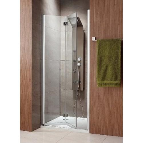 Складная дверь в нишу Radaway Eos DWB 80L (790-810x1970) левая, прозрачная/хром (37813-01-01NL)