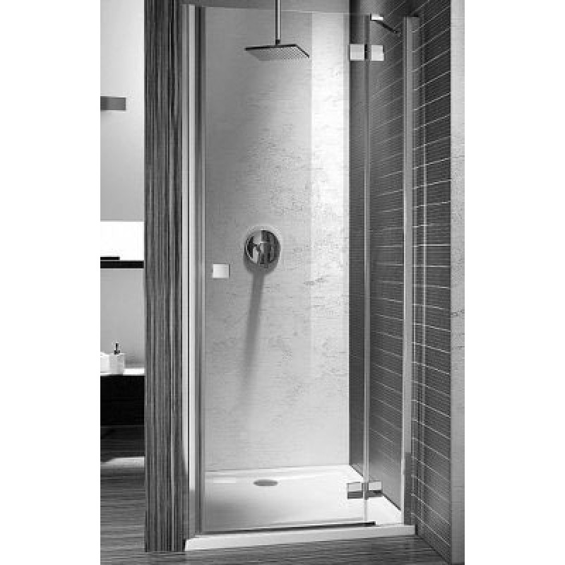 Дверь в нишу Radaway Almatea DWJ 110R (1090-1110х1950) правая, прозрачная/золото (31312-09-01N)