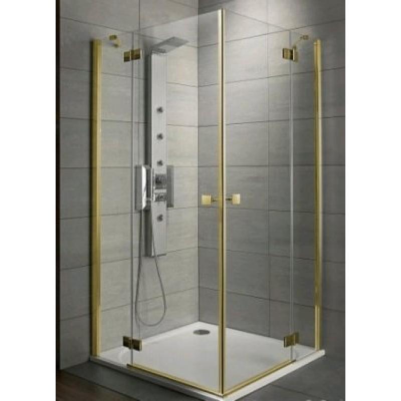 Radaway Almatea KDD 90Lx100R (100x90х195) коричневая/золото (32183-09-08N)