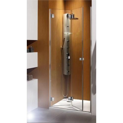 Складная дверь в нишу Radaway Carena DWB 90L (893-805x1950) левая, коричневая/хром (34502-01-08NL)