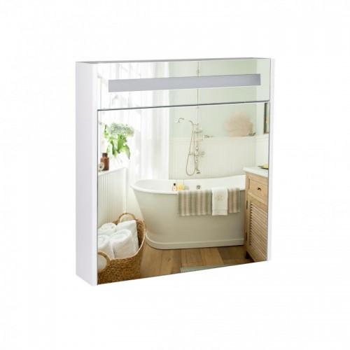 Зеркальный шкаф подвесной Qtap Robin с подсветкой QT1377ZP7001W