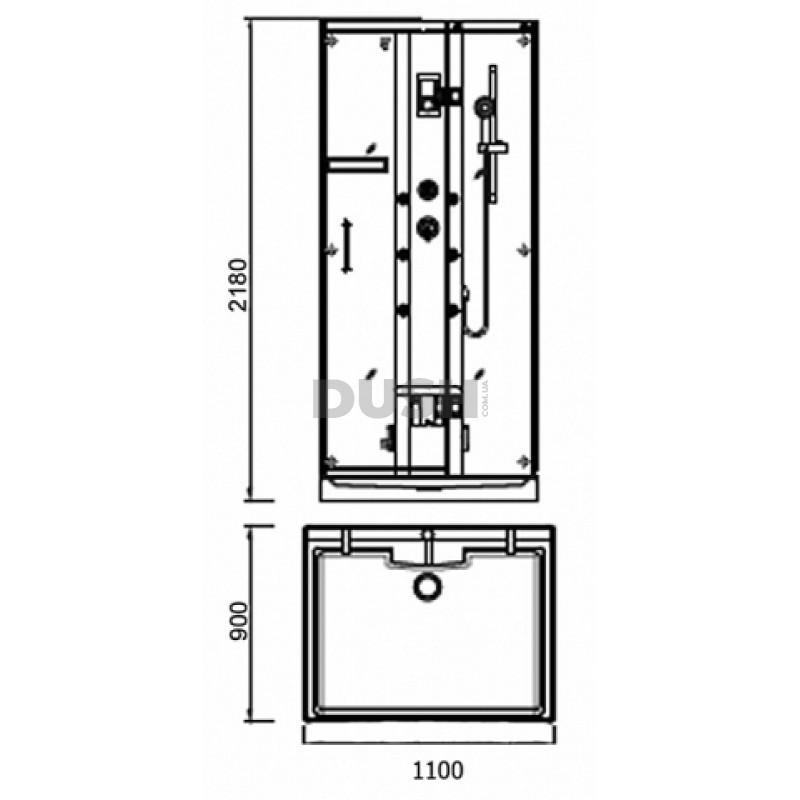 Гидромассажный бокс APPOLLO A-8839 110х90х215