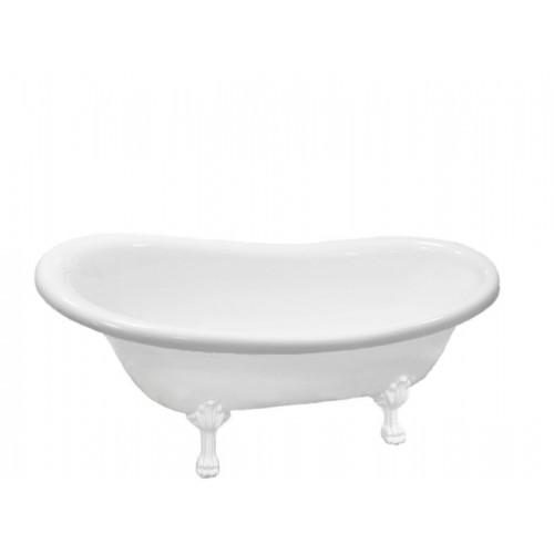 Акриловая ванна Atlantis C-3000 белые лапы (без перелива) 170х74х78