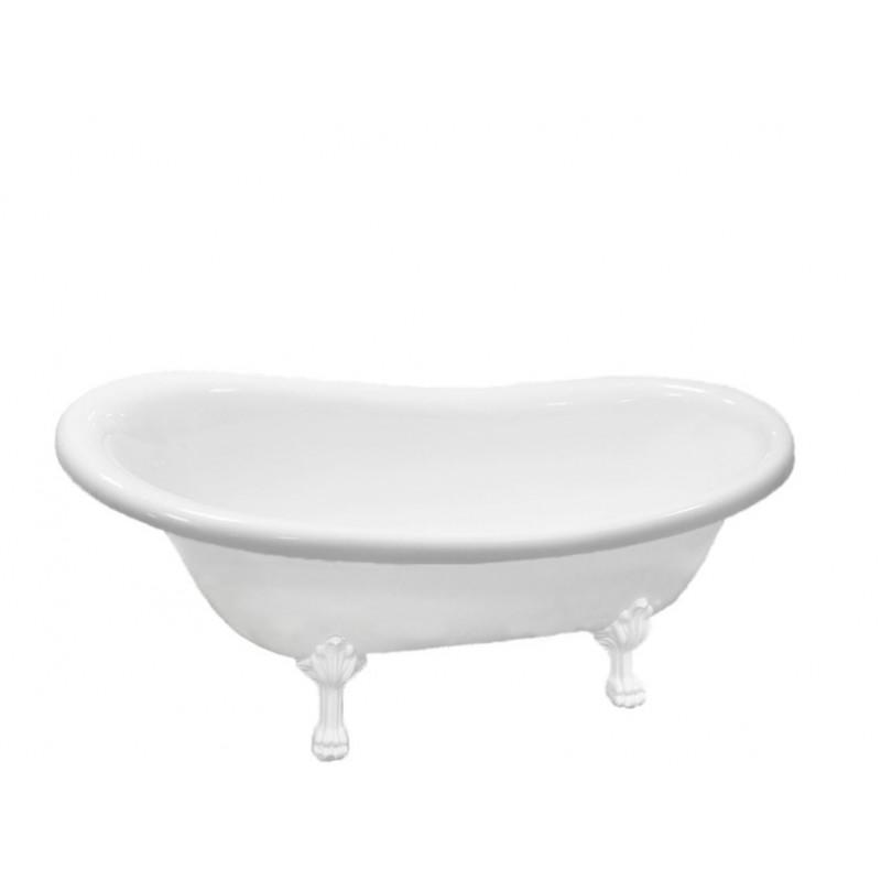 Акриловая ванна Atlantis C-3015 белые лапы (без перелива) 170х70х70