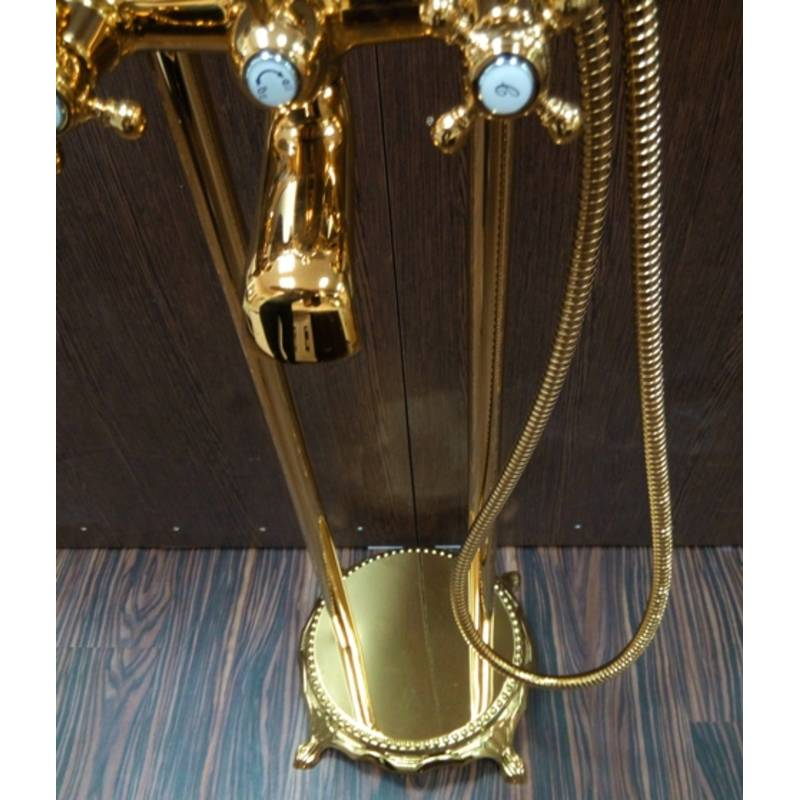 Напольный смеситель для ванны Atlantis 3011 цвет золото