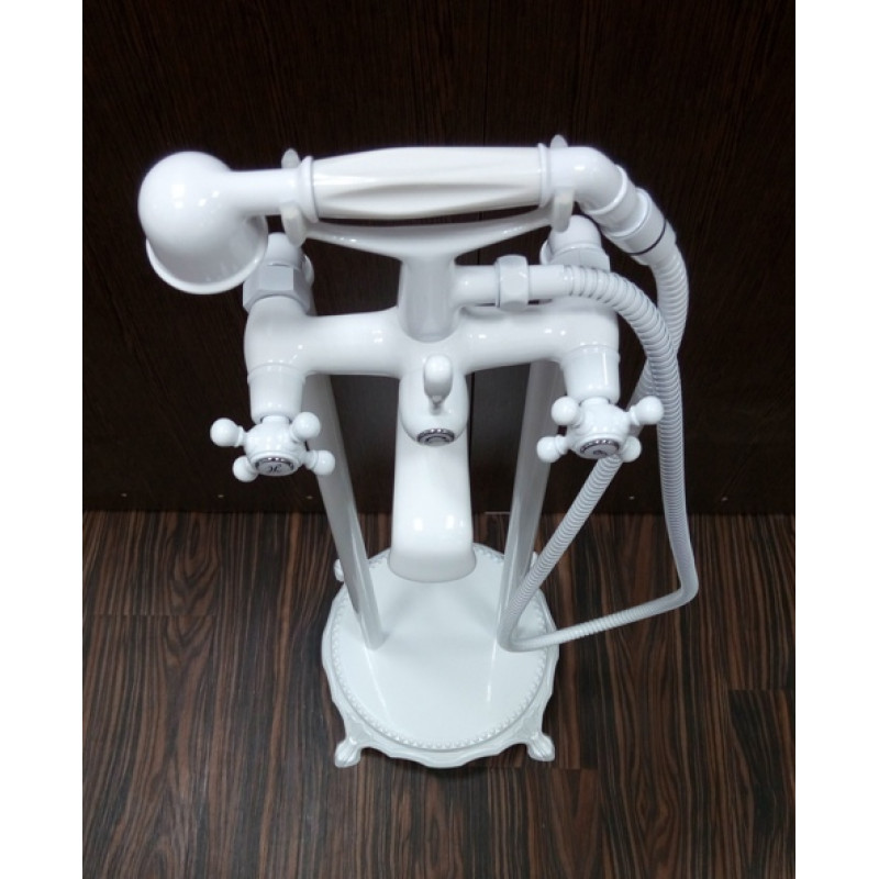 Підлоговий змішувач для ванни Atlantis 3011 колір білий