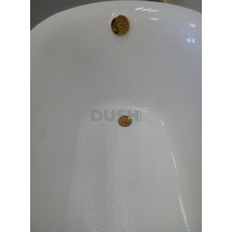 Красная акриловая ванна Atlantis C-3015 ножки золото (с переливом) 170х78х78